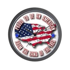 Patriotic USA Wall Clock
