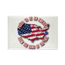Patriotic USA Rectangle Magnet (100 pack)