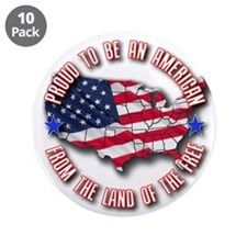"""Patriotic USA 3.5"""" Button (10 pack)"""