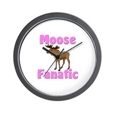 Moose Fanatic Wall Clock