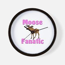 Moose Fanatic Wall Clock