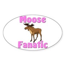 Moose Fanatic Oval Decal
