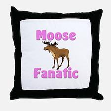Moose Fanatic Throw Pillow