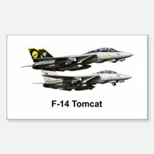 USN F-15 Tomcat Rectangle Decal