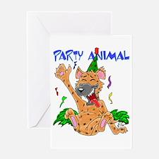 Hyena Party Animal Greeting Card