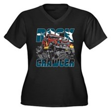 Rock Crawler Women's Plus Size V-Neck Dark T-Shirt
