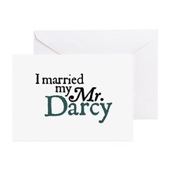 Jane Austen Married Darcy Greeting Cards (10)