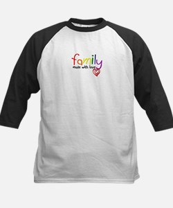 Gay Family Love Kids Baseball Jersey