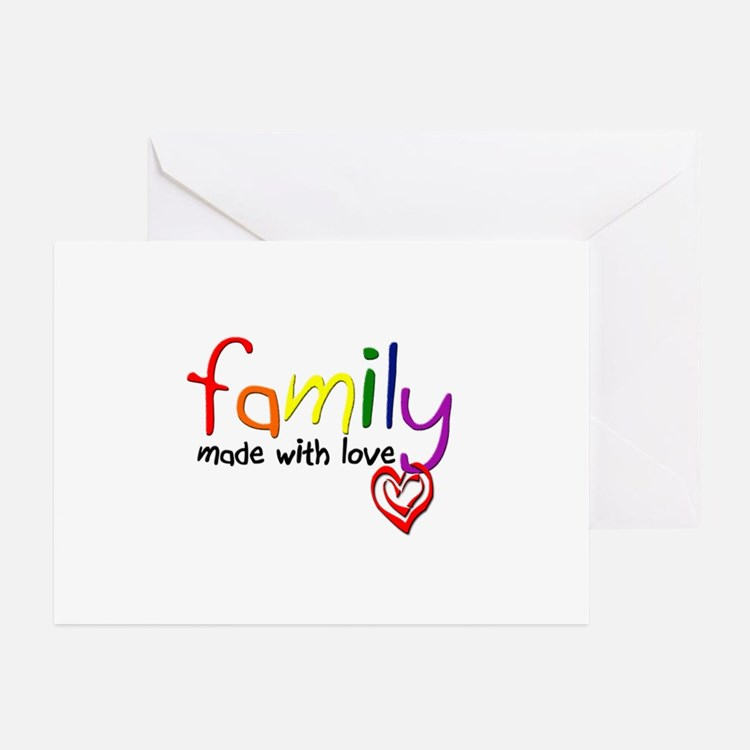 Gay Family Love Greeting Cards (Pk of 10)