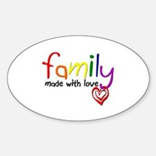 Gay Family Love Oval Decal