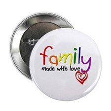 """Gay Family Love 2.25"""" Button (10 pack)"""