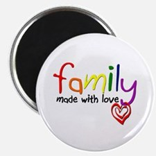 "Gay Family Love 2.25"" Magnet (100 pack)"