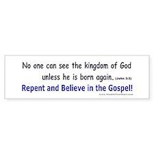 John 3:3 Bumper Bumper Sticker