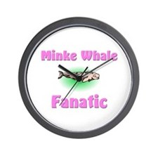 Minke Whale Fanatic Wall Clock