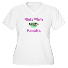 Minke Whale Fanatic Women's Plus Size V-Neck T-Shi