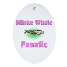 Minke Whale Fanatic Oval Ornament