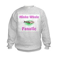 Minke Whale Fanatic Kids Sweatshirt