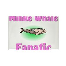 Minke Whale Fanatic Rectangle Magnet