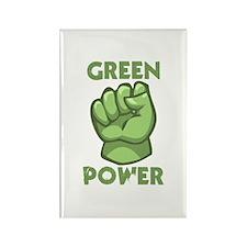Green Power Rectangle Magnet (100 pack)