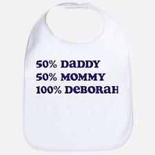 100 Percent Deborah Bib