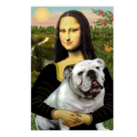Mona & English Bulldog Postcards (Package of 8)