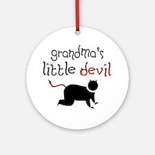 Grandma's Little Devil Keepsake (Round)