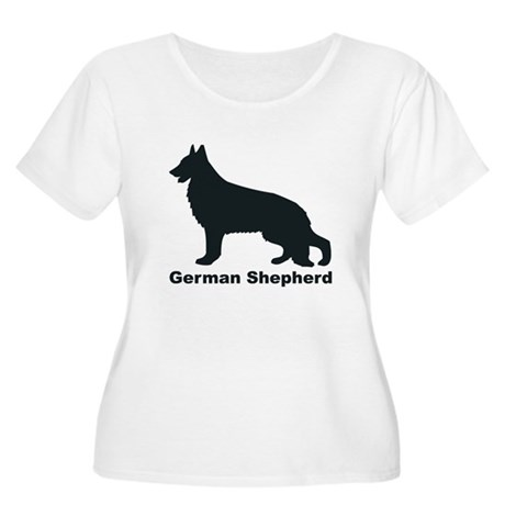 GERMAN SHEPHERD Womens Plus-Size Scoop Neck T