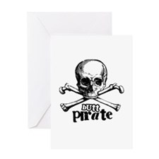 Butt pirate Greeting Card