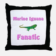 Marine Iguana Fanatic Throw Pillow