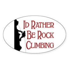Rock Climbing Oval Decal