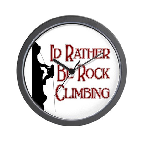 Rock Climbing Wall Clock