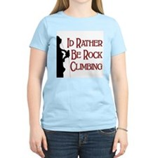 Rock Climbing Women's Pink T-Shirt