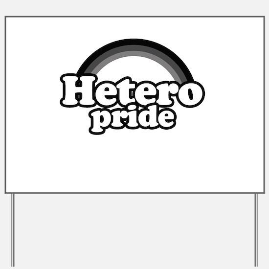 Hetero pride Yard Sign
