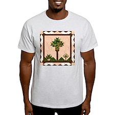 Palm Quilt Ash Grey T-Shirt