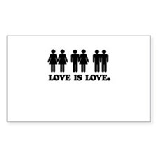 Love is love Rectangle Decal