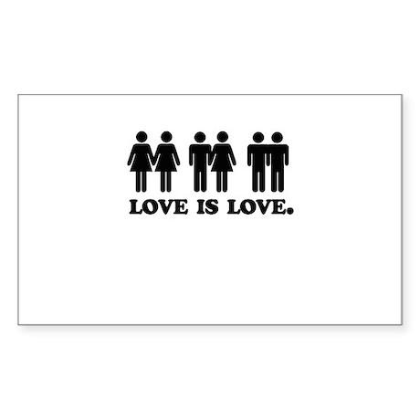 Love is love Rectangle Sticker