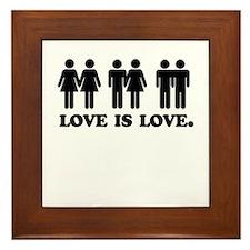 Love is love Framed Tile