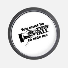 You must be this tall to ride me Wall Clock