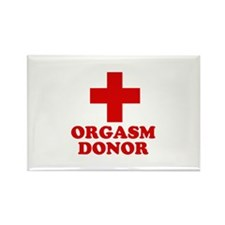Orgasm donor Rectangle Magnet (100 pack)