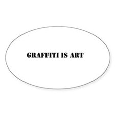 SGraffiti Stencil Art Oval Decal