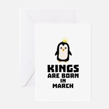 kings born in MARCH Cde4n Greeting Cards