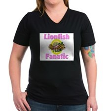 Lionfish Fanatic Women's V-Neck Dark T-Shirt