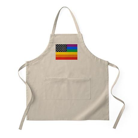 Gay Pride Flag BBQ Apron