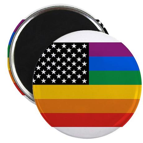 """Gay Pride Flag 2.25"""" Magnet (10 pack)"""