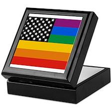 Gay Pride Flag Keepsake Box