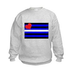 Leather pride-flag Sweatshirt