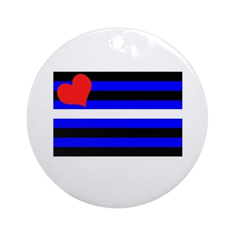 Leather pride-flag Ornament (Round)