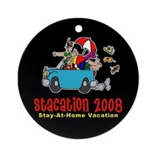 Stacation Family vacation Ornament (Round)