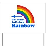 Rainbow pride Yard Signs