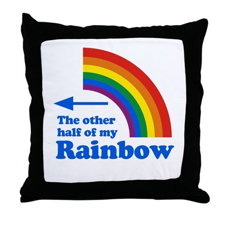 The other half of my rainbow (left) Throw Pillow